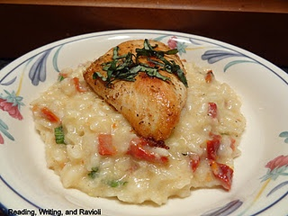 Sun-Dried Tomato and Basil Risotto with Seared Chicken