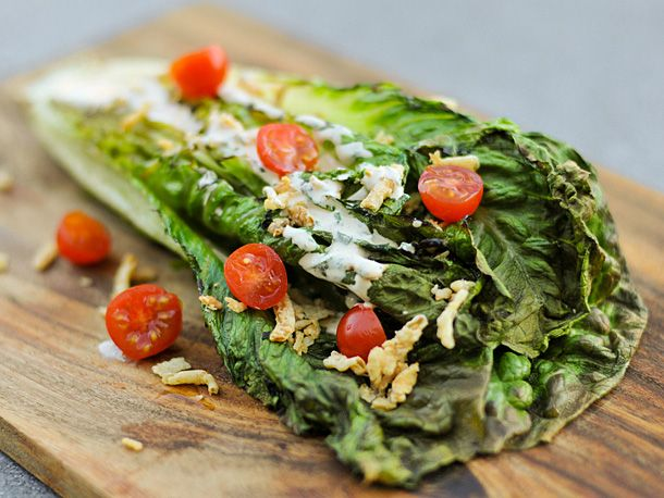 Grilled Romaine lettuce - think of the fun possibilities :)
