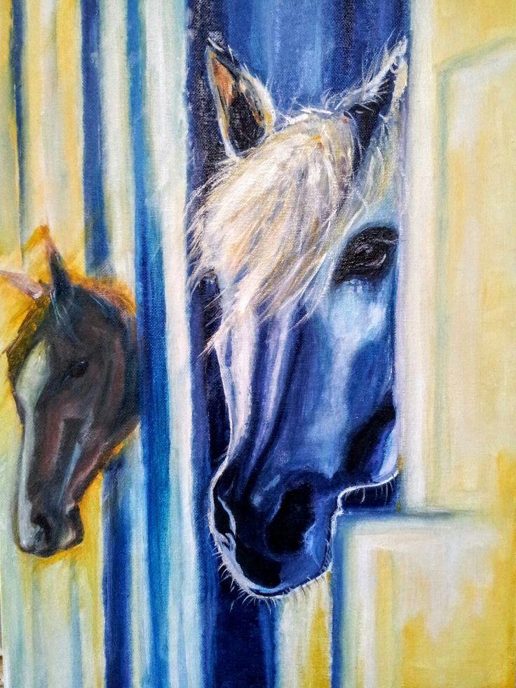 """""""Spirito e Fuoco"""" oil on canvas 35x50cm painted by Ariela Salcini"""