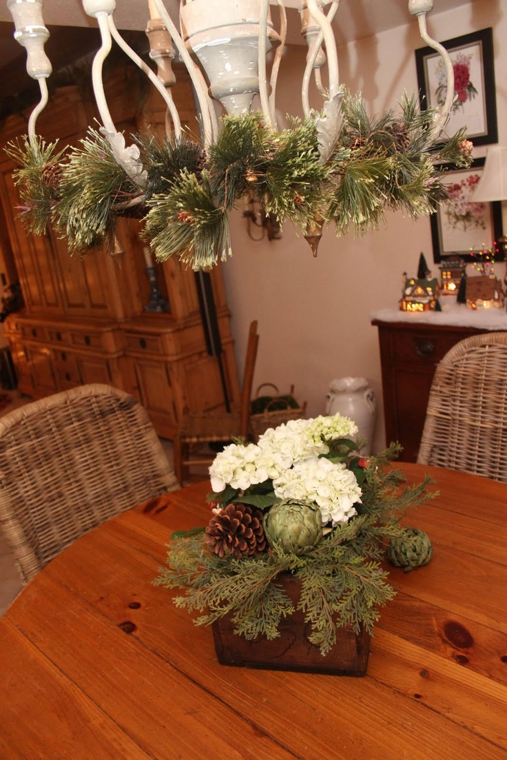 Winter Greens Centerpiece : Best images about wedding table decor on pinterest