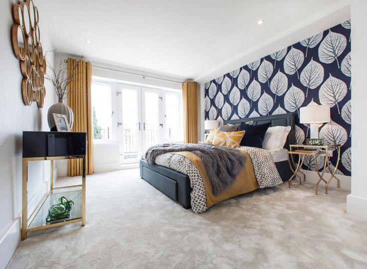 Image result for blue and gold bedroom Schlafzimmer