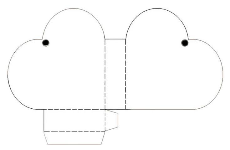 Caja de carton con forma de corazon | TodoSimple