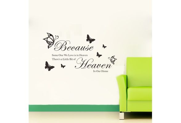 Wall Decor Removable BECAUSE Wall Stickers Room Decals Wall Art Wallpaper (Color Black) (Size: 57cm by 32cm, Color: Black) $6 USD #wish #onlineshopping #shoppingmadefun #fashion #gift #creativeliving #householdgoods #homedecor #home