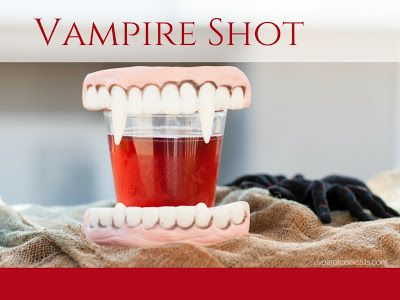 Vampire Shot - A Year of Cocktails A Vampire shot is a perfect shooter that everyone will love, with vodka, cranberry juice and Chambord.