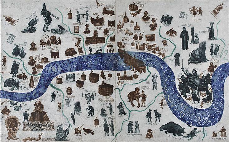 Mychael Barratt, A Map of Shakespeare's London