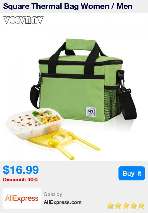 Square Thermal Bag Women / Men Lunch Bag Cooler Beam Port Lunch Box Lady Handbag Children / Kids Lunch Bags / Insulation Package * Pub Date: 21:06 Jun 30 2017
