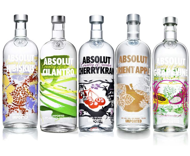 Absolut bottle designs launched in 2013