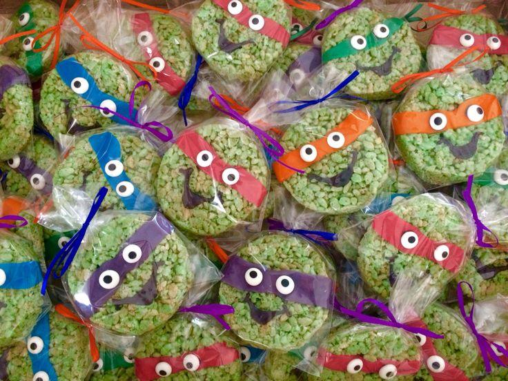 Teenage Mutant Ninja Turtles Rice Krispy treats!