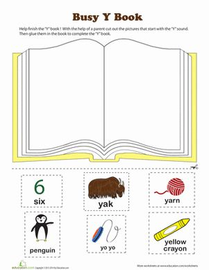 Yoohoo! Does your preschooler's phonics practice leave him yawning? This worksheet will give him some Y phonics brain yoga.