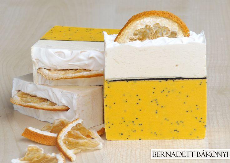 Yoghurt-Orange Soap with poppy seed #handmade #soap #yoghurt #orange #poppy