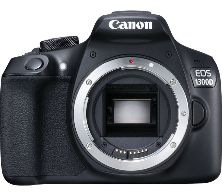 CANON  EOS 1300D DSLR Camera - Black, Body Only, Black Price: £ 269.00 The Canon EOS 1300D DSLR Camera delivers sharp, impressive photos with an easy to handle body and handy WiFi connectivity. Capture the special moments in life Updating the successful EOS 1200D, the 1300D features many of the same features - but with an improved processor and the addition of WiFi, you can share images...