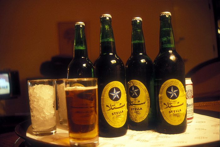Stella beer - Only in Egypt.