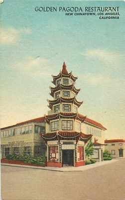 CA, Los Angeles, California, Golden Pagoda Restaurant,Sincere Importing No 12655