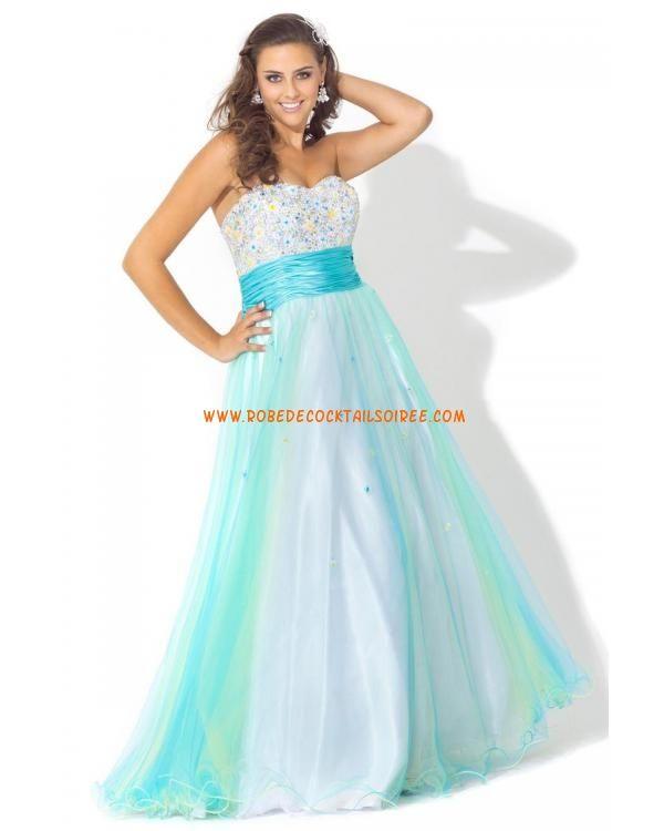 Sans bretelle bleu ciel glamour pas cher cristaux ceinture tulle robe de soirée 2013