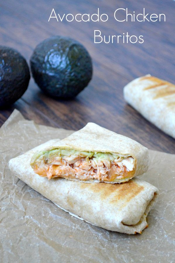 Super easy and quick recipe – Avocado Chicken Burritos from Taking Care of Monke…