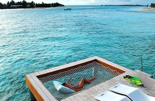 Dock Hammock - perfect for a snooze over an aquamarine sea.