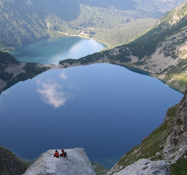 Poland Morskie Oko - The Sea Eye. Legend says that this lake located on the South of Poland is connected to the Baltic Sea, on the other, North side of the country, through the underground rivers.