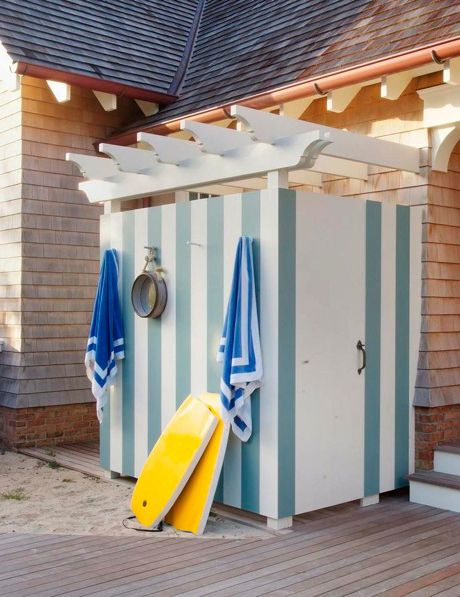 Pool Changing Room Ideas narrow single use mistral cabins are a charming foil for an outdoor shower or toilet Find This Pin And More On Deck Ideas