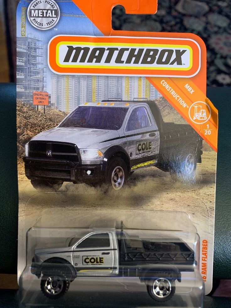 2018 Matchbox #24 2016 Ram Flatbed Silver MBX Construction ...