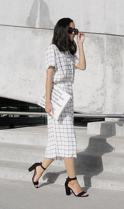A grid patterned, matching set.