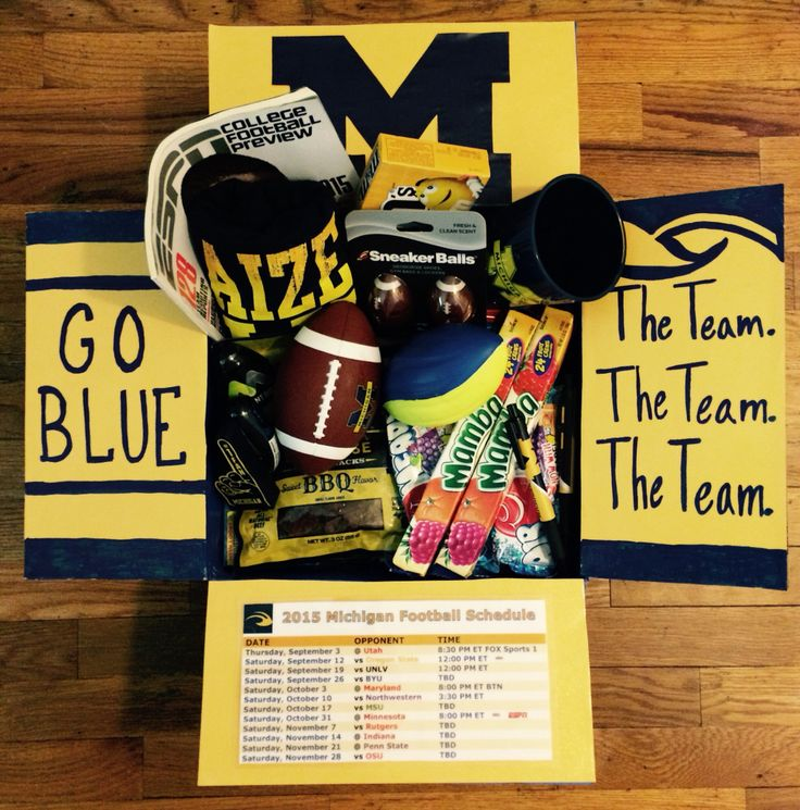 Michigan football care package. #deployment #military #collegefootball