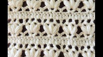 puntos al crochet para hacer cortinas vedeos - YouTube
