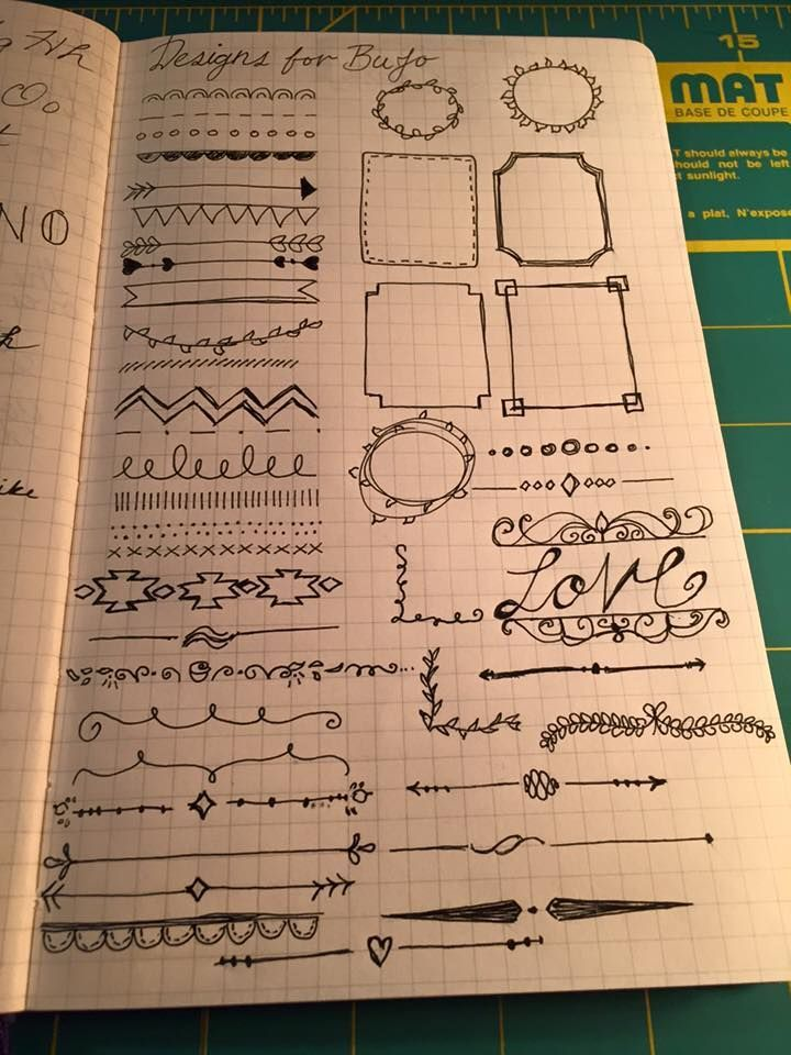 Bullet Journal -- Doodle Reference Page