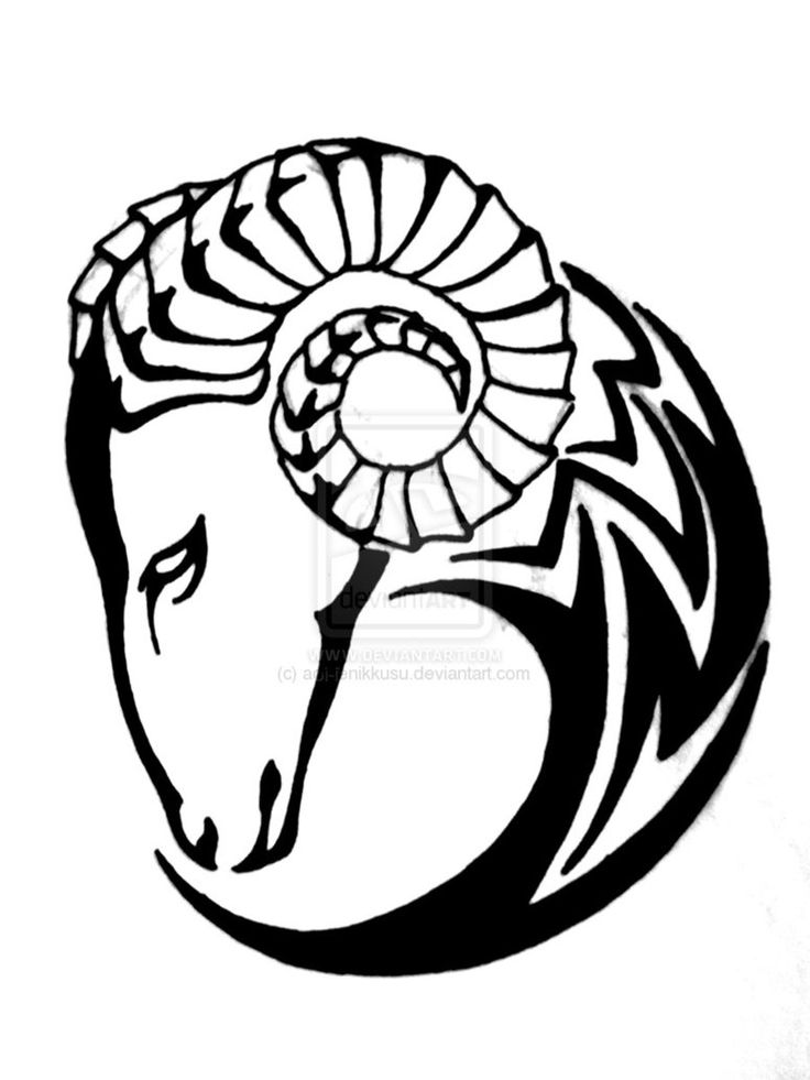 I might actually get something like this as a tattoo.. usually I don't like rams, but this is cool.