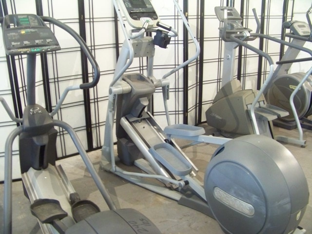 FITNESS EQUIPMENT (1) UPRIGHT BIKE, LIFE FITNESS MODEL 95CI, (1) ELLIPTICAL, PRECOR MODEL EFX576I 20 LEVELS OF RESISTANCE* 10 PROGRAMS, (1) UPRIGHT BIKE SCHWINN AIRDYN, ITEMS SHOW WEAR