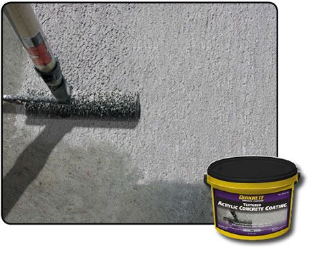 Textured Acrylic Concrete Coating. Need to check into using this to coat foam.