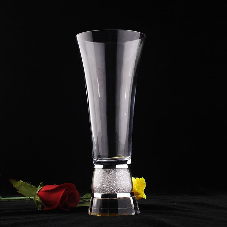 Cheap glass vase, Buy Quality glass vases for wedding directly from China vases for weddings Suppliers: Glass vase for wedding home decoration centerpiece in blue gift box