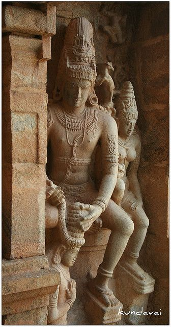 Shiva and Parvati,  Chola period Hindu Temple, Jayankondam, Tamil Nadu, India ca. 11th C.