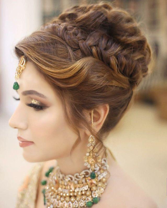 Hairstyles Pakistani Bridal Hairstyles Bridal Hair Buns Long Hair Styles