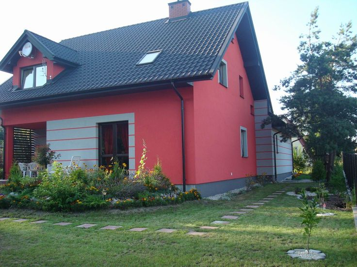 widok domu z ogrodu  #dom #ogród #projekt