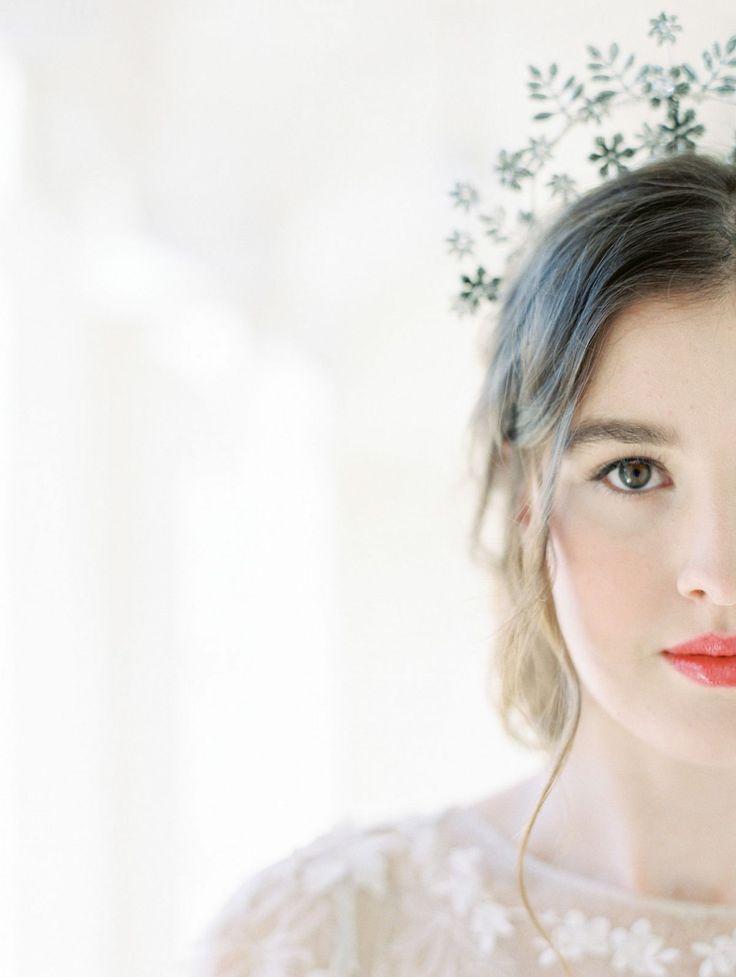 Bridal Hair and Makeup | Natural Bridal up-do | Na…