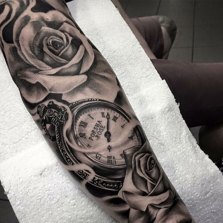 Tattoo Tips Pocket Watch Rose