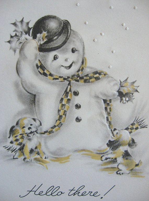 Vintage Snowmen 32