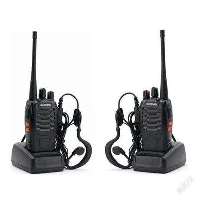 2x VYSÍLAČKA VYSÍLAČKY AIRSOFT MYSLIVOST , BATERIE - 2x vysílačka BAOFENG BF 888S Technické parametry : Typ: UHF FM vysílač Značka : Baofeng Model : BF- 888S Barva: černá Frekvence: 400-470MHz Výkon: ≤ kapacita 5W kanálů: 16 Napětí: 3.7V Baterie: 1500mAh Li- ion baterie velikosti výrobku : přibl. 11,5 * 6 * 3,3 cm Hmotnost výrobku : cca. 150 g / 5,3 oz Velikost balení : Approx.18 * 11 * 9,5 cm /Hmotnost balení : Approx.390g / 13,8 oz. Vlastnosti: 400-470MHz frekvenční rozsah . 16 kanálu…