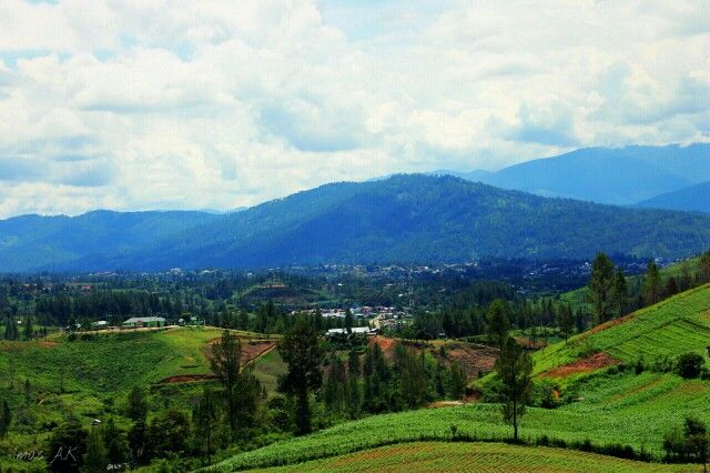 Kodim nampak dari landasan pesawat Blangpegayon, Gayo Lues, Aceh, Indonesia.