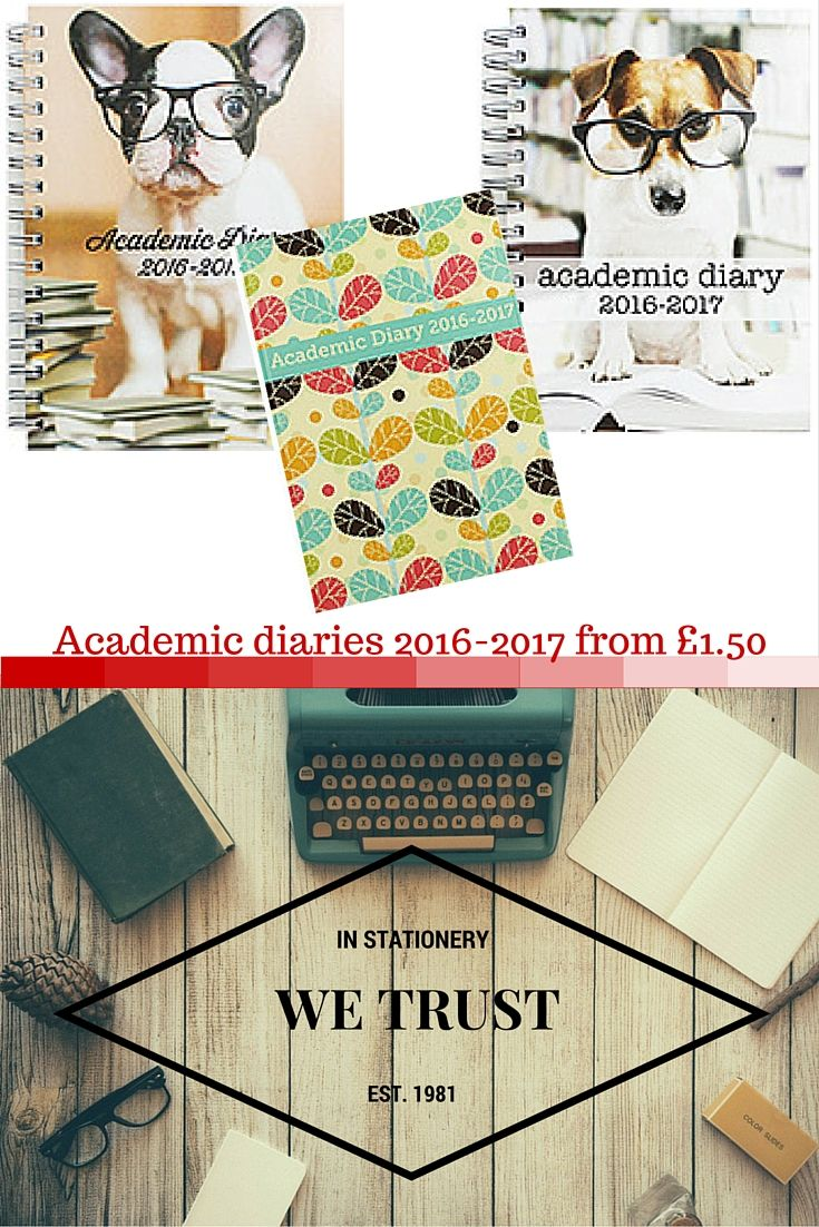 Organise your life in 2016-2017 with these clever week to view academic diaries. Perfect for students to use during the academic year, for use at school, college and university.