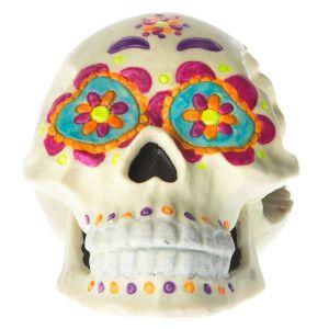 Top Fin® Pet Halloween Day Of The Dead Skull Aquarium Ornament   Ornaments   PetSmart