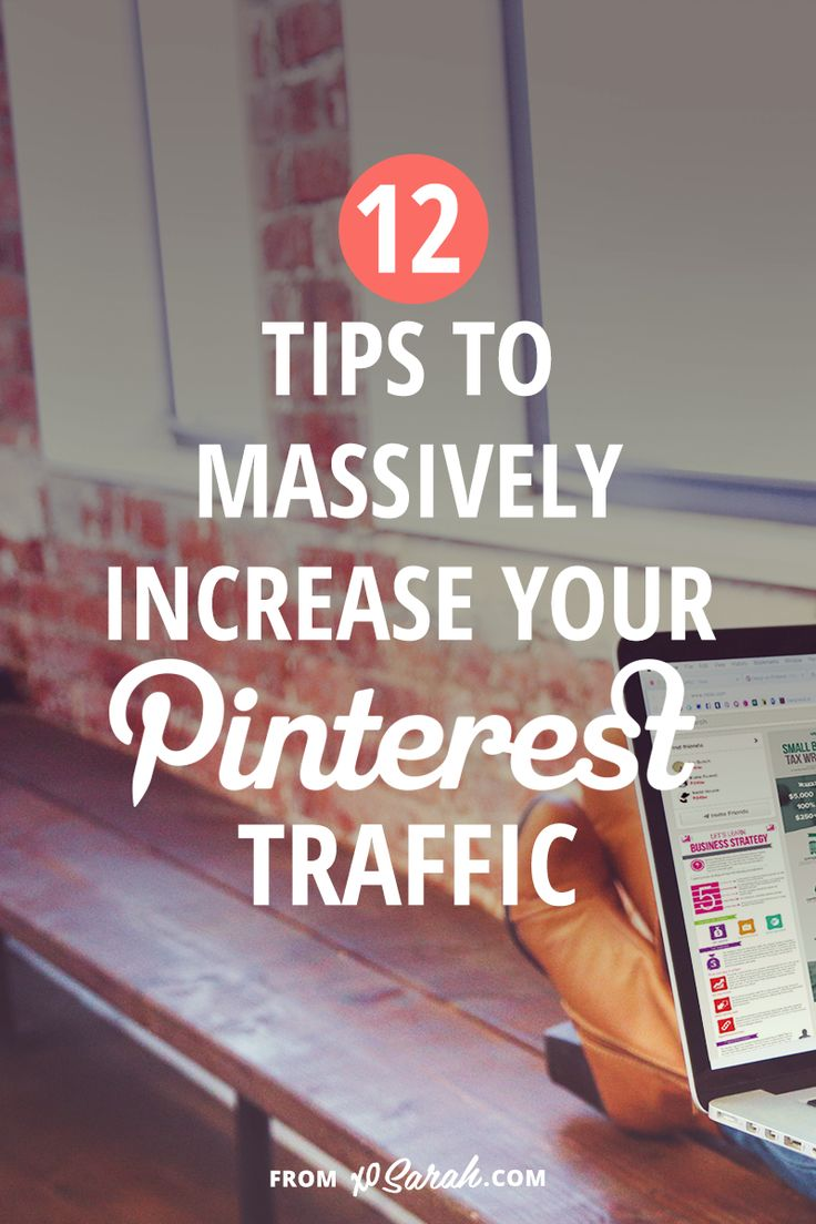12 tips to increase your Pinterest traffic, by XO Sarah  http://xosarah.com/2015/08/13/12-tips-to-massively-increase-your-pinterest-traffic/?utm_content=buffer46c10&utm_medium=social&utm_source=pinterest.com&utm_campaign=buffer