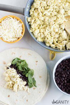 Homemade Frozen Breakfast Burritos - Slim Sanity