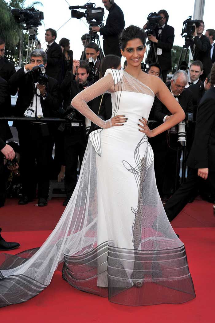 Sonam Kapoor was lauded for her panache in her debut year at Cannes (2011) where she walked the red carpet in jean Paul Gaultier Couture gown.