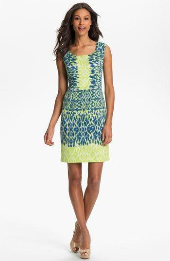 Adrianna Papell ikat #dress #fashion
