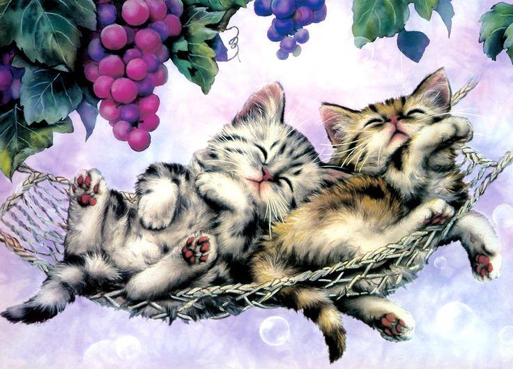может длиться картинки для декупажа коты и кошки котята название