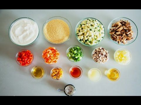Salata couscous cu pui si legume