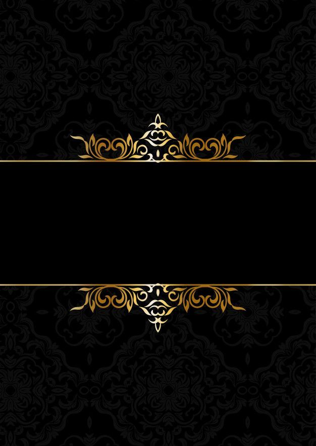 Decorative Elegant Background In Black And Gold Free Vector Gold And Black Backgr Gold And Black Background Black Background Wallpaper Black And Gold Aesthetic
