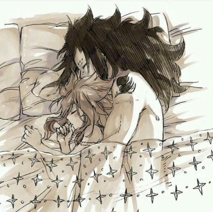 Sleeping - Gajeel and Levy