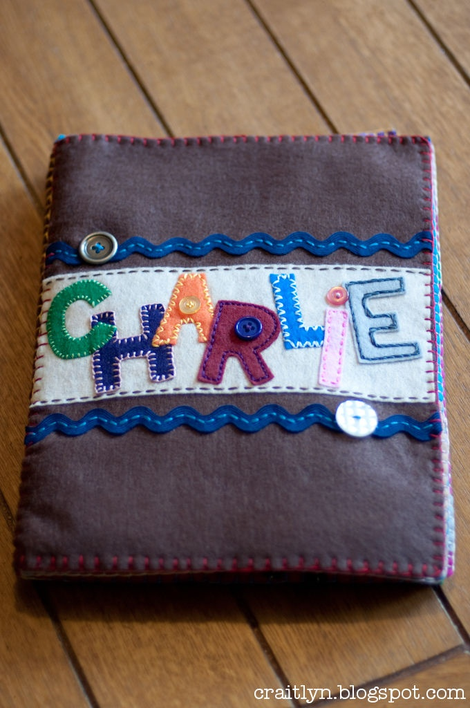 Felt Name Book  Completed project!  So want to do this for my littles, and maybe baby showers!
